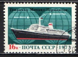 "URSS - 1973 - Inauguration Of Transatlantic Service ""Mikhail Lermontov,"" Route Leningrad To New York - USATO - Oblitérés"
