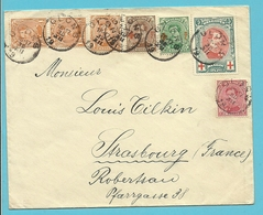 132+135+138+151+152 Op Brief Stempel GLONS - 1918 Rotes Kreuz