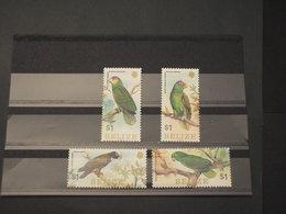 BELIZE - 1984 PAPPAGALLI 4 VALORI  - NUOVI(++) - Belize (1973-...)