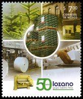 2016 MÉXICO 50 Aniversario Del Grupo Lozano Hermanos, TREES,  PAPER FACTORY AND INDUSTRY, STAMP MNH Sc 3021 - México