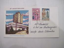 ENVELOPPE 25è ANNIVERSAIRE  EXPOSITION  PHILATELIQUE 92 LA GARENNE COLOMBES  Octobre 1973 TBE - Marcophilie (Lettres)
