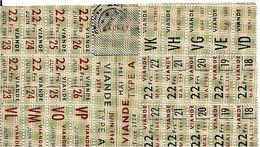 TICKET De RATIONEMENT  CARTE  DE  VIANDE    De 1947 - Historical Documents