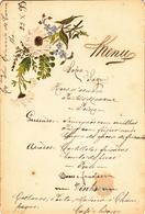 Portugal- Menu Antigo -Datado 22 -10 -1899 - Menu