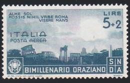 *FRANCOBOLLI Italia Regno 1936 Orazio 5 L + 2 L Posta Aerea - Non Usato Senza Colla.macchia.A - Mint/hinged