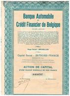 Titre Ancien - Banque Automobile Et Crédit Financier De Belgique -  Société Anonyme - Titre De 1931 - Banque & Assurance