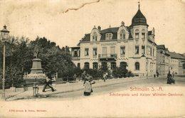 Schmölln, Schillerplatz Mit Kaiser Wilhelm-Denkmal - Schmoelln
