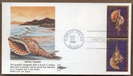1984 Sea Shells Set FDC 5 Covers - Palau