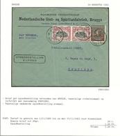 144+186 (Olympiade) Op Brief Per EXPRES Stempel BRUGGE 2 - Belgium