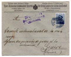 1915 WWI , CENSORED, MILITARY POST FROM LESKOVAC TO GENEVA RED CROSS VIA THESSALONIKI - Serbia