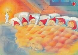 Brownies Are Sleeping On The Bed - Birds - Salli Parikka - Red Cross 2001 - Suomi Finland - Postage Payed - Finlandia