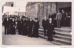 Carte Photo 87 @ SAINT LEONARD DE NOBLAT @ Sortie De L'Eglise Le Jour De Mariage De Mr Sauriat André Le 15/09/1947 - Saint Leonard De Noblat