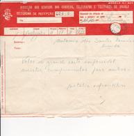 Portugal-1Telegrama 1953 -Telegrafos  E Telefones De Angola - Portugal