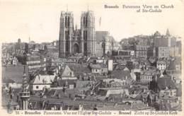 BRUXELLES - Panorama - Vue Sur L'Eglise Ste-Gudule - Panoramische Zichten, Meerdere Zichten