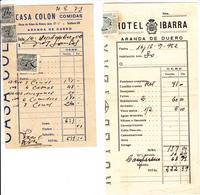 Espana      Recibos  De 1952  -Aranda De Duero =3  + 1 De Mérida - Spain