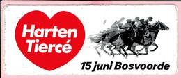 Sticker - Harten Tiercé - 15 Juni Bosvoorde - Autocollants