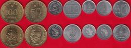 Argentina Set Of 7 Coins: 1 Austral - 100 Pesos 1957-1991 XF-UNC - Argentina