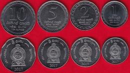 Sri Lanka Set Of 4 Coins: 1 - 10 Rupees 2017 UNC - Sri Lanka