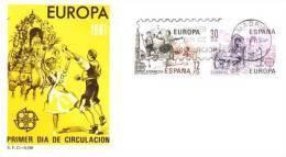 SPAIN 1981 EUROPA CEPT FDC /zx/ - 1981