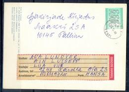 K800- Postal Used Post Card. Posted  From Eesti Estonia To Pakistan. - Estonia
