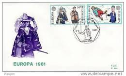 BELGIUM 1981 EUROPA CEPT FDC - Europa-CEPT