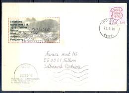 K802- Postal Used Post Card. Posted  From Eesti Estonia To Pakistan. Plants. Flower. - Estonia