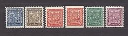Czechoslovakia 1929 MNH ** Mi 277, 278, 279, 279B, 280, 281 Sc 152, 153, 154, Roll, 155,156 Shield. Tschechoslowakei - Unused Stamps
