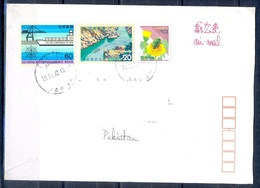 K836- Postal Used Cover. Posted From Nippon Japan To Pakistan. Ship. Flower. Bee. Mountain. - Japan