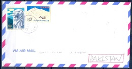 K840- Postal Used Cover. Posted From Nippon Japan To Pakistan. Mountain. - Japan