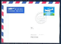 K842- Postal Used Cover. Posted From Helvetia Switzerland To Pakistan. Aero Plane. Transport. - Switzerland