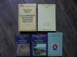 Petit Lot - 5 Livres De Thomas MANN Années 80 - Lots De Plusieurs Livres
