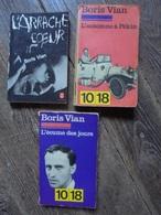 Petit Lot - 3 Livres De Boris VIAN Années 60/70 - Lots De Plusieurs Livres
