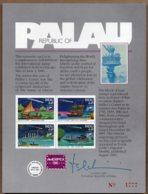 1986 Halleys Comet Ameripex Card Printed Issue Advetising - Palau