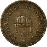 Monnaie, Hongrie, Franz Joseph I, 2 Filler, 1897, Kormoczbanya, TB+, Bronze - Hungary