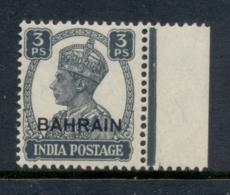Bahrain 1942-44 KGVI Opt On India 3p MUH - Bahrain (1965-...)
