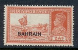 Bahrain 1938-41 KGVI Opt On India 2a MLH - Bahrain (1965-...)