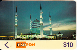 MALAYSIA(GPT) - Mosque, CN : 6MSTE/B(normal 0), Tirage %60000, 09/91, Used - Malaysia