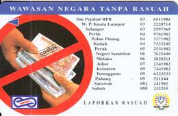 MALAYSIA(GPT) - Banknotes, BPR, Wawasan Negara Tanpa Rasuah, CN : 74USBA/B, Tirage %60000, Used - Stamps & Coins