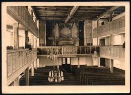 C5048 - Foto - Neudorf Kirche Innenansicht Orgel Mittelschiff - Kirchen U. Kathedralen