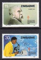 ZIMBABWE - 1982 ROBERT KOCH ANNIVERSARY SET (2V) FINE MNH ** SG 620-621 - Zimbabwe (1980-...)