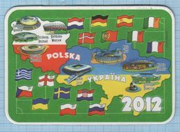 UKRAINE / Flexible Magnet / Football Europe Championship UEFA EURO 2012 Poland Polska. Flags Of Participating Countries. - Sports