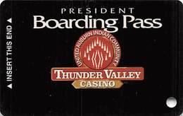 Thunder Valley Casino Lincoln CA - BLANK Slot Card Copyright 2003 - Casino Cards