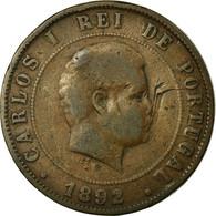 Monnaie, Portugal, Carlos I, 20 Reis, 1892, B+, Bronze, KM:533 - Portugal