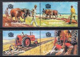 ZIMBABWE - 1983 PLOUGHING CONTEST SET (4V) FINE MNH ** SG 626a, 628a - Zimbabwe (1980-...)