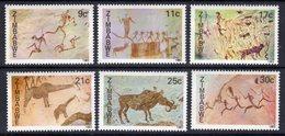 ZIMBABWE - 1982 ROCK PAINTINGS SET (6V) FINE MNH ** SG 610-615 - Zimbabwe (1980-...)