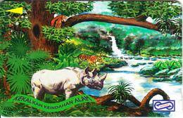 MALAYSIA(GPT) - Rhinoceros, Pain, CN  : 21USBC/B(normal 0), Tirage %80000, Used - Malaysia