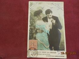 Carte De 1908 Avec Timbre Perforé - 1877-1920: Periodo Semi Moderno