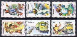 ZIMBABWE - 1983 WORLD COMMUNICATIONS YEAR SET (6V) FINE MNH ** SG 630-635 - Zimbabwe (1980-...)