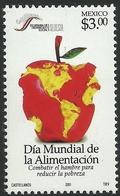 2001 MÉXICO Día Mundial De La Alimentación MNH World Food Day, APPLE, HEALTH, SCOTT # 2249,Michel: 2947, Yvert: 1974 - México