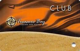 Treasure Bay Casino Biloxi MS - BLANK Slot Card - P645317, PG & BIL On Back - Casino Cards