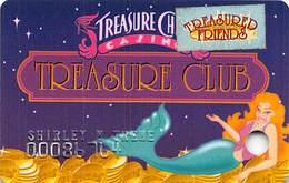Treasure Chest Casino Kenner, LA - Slot Card With Treasured Friends Sticker - Casino Cards